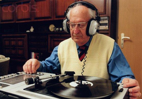 Old Man DJing